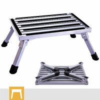 Aluminum Step Stool Folding Drywall Step Up Platform Home Use Portable Ladder
