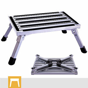 La foto se está cargando Aluminum-Step-Stool-Folding-Drywall-Step-Up -Platform-  sc 1 st  eBay : folding step up stool - islam-shia.org
