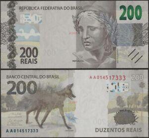 Brazil/Brasil PNew B880 200 Reais 2020 Wolf Banknote AUNC@ Ebanknoteshop