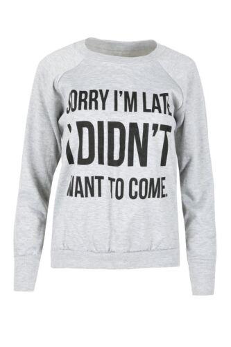 Ladies Jumper Sweater Womens MY MAMA DON/'T LIKE YOU Printed Fleece Sweatshirt