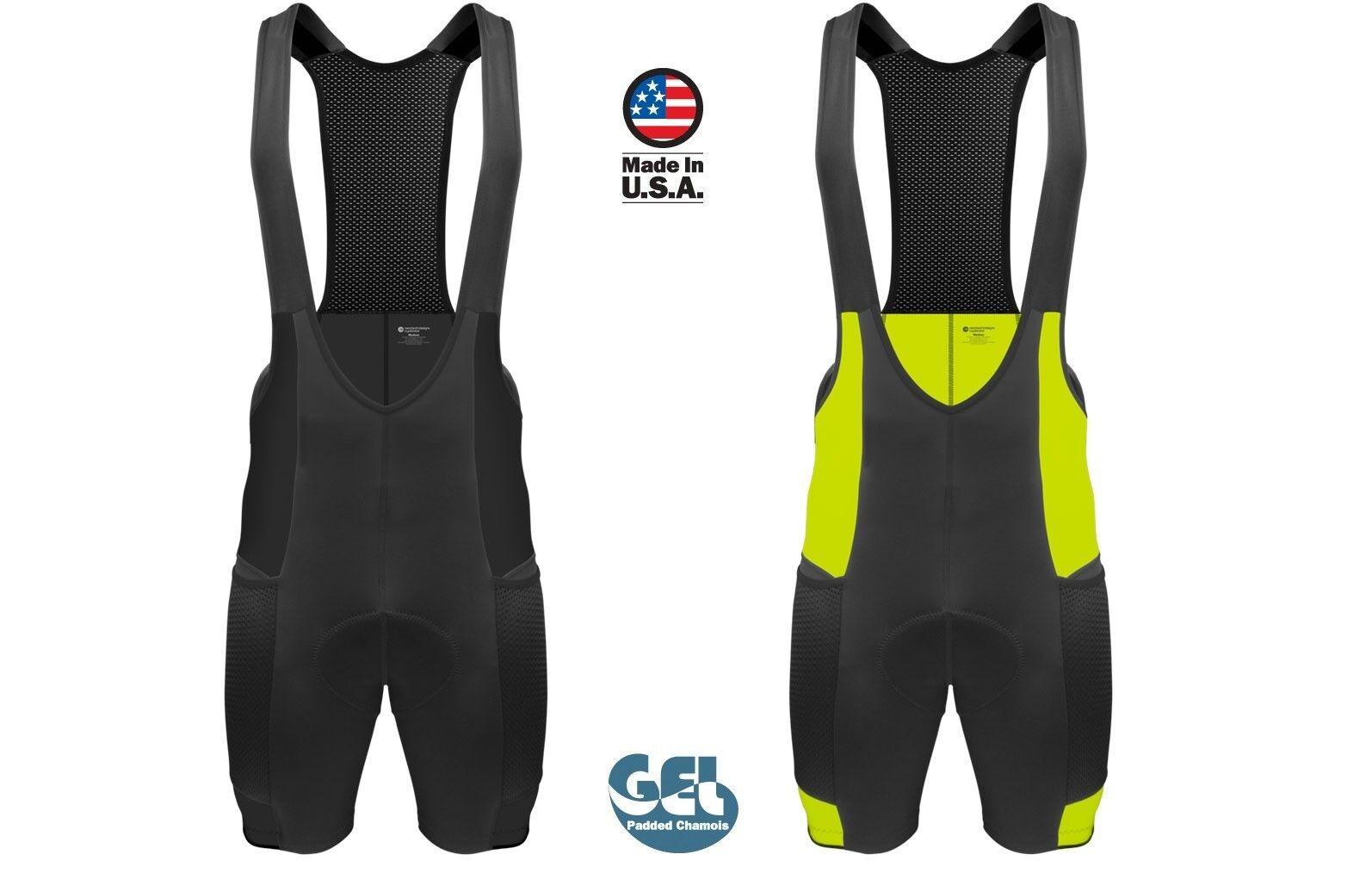 Aero Tech Designs para hombre Baberos Gel Touring Babero Culotte   bolsillos de malla hecho en Estados Unidos