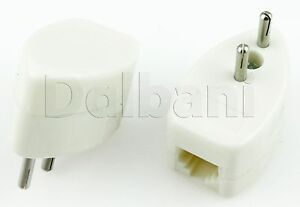 5pcs-70-0336-6P-2-Prong-to-2-Pin-Telephone-Jack