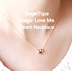 """""""Think of me none stop """" Love heart Necklace spellbound"""
