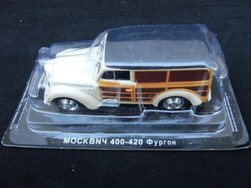 MV39-1 Legendary Cars MOSKVITCH 400-420 A Beige 1947  1:43 Die Cast