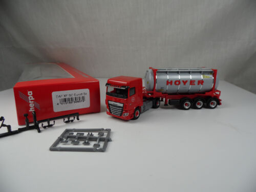 Ht548 Herpa 306072 DAF XF SC euro 6 química tanque contenedor-remolcarse hoyer 1:87 ne