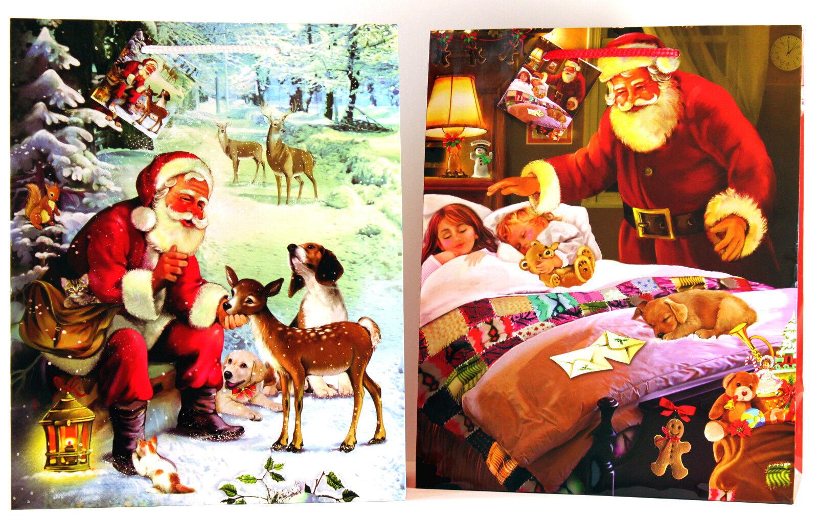 Geschenktüten 288Stk Groß (Large) Weihnachtstüten Tragetasche Geschenkbeutel 822