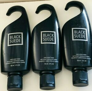 Avon Black Suede Mens Hair and Body Wash 5 FL Oz for sale