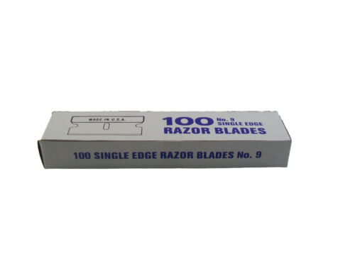 Free 100pc Single Edge Razor Blades #9  Made in USA Fast Shipping!
