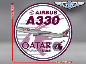 2x-QATAR-AIRWAYS-AIRBUS-A330-ROUND-DECALS-STICKERS