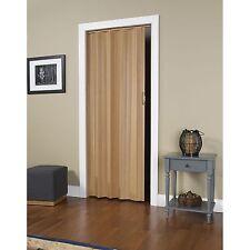 "Interior Folding Door Via Oak 24""-36""x80"" Accordian Pleated Style Vinyl Panel"