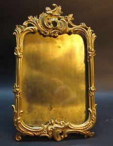 Fine Antique Gilt Metal Easel Back Picture Frame 4 C