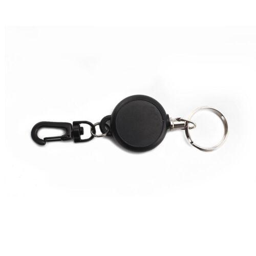 Badge Reel Key Chain Retractable Recoil Chain Ski Keyring Holder Steel Cord