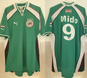 EGYPT FOOTBALL SHIRT SOCCER JERSEY 2000 2002 MIDO #9 XL GREEN PUMA .