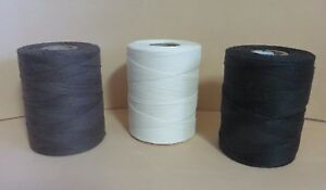 SOMAC UNWAXED LINEN HAND SEWING THREAD FOR LEATHER + NEEDLES - COLOUR/THICKNESS