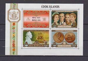 S19521) Cook Isl. MNH New 1970 Royal Visit S/S