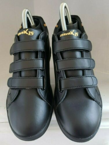 Mens Elevator Lift Shoes Size 6 8MM Black Gold Lea