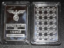 1 Unze Silber Silberbarren Eisernes Kreuz German Silver Reichsadler
