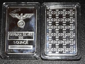 1-Unze-Silber-Silberbarren-Eisernes-Kreuz-German-Silver-Reichsadler