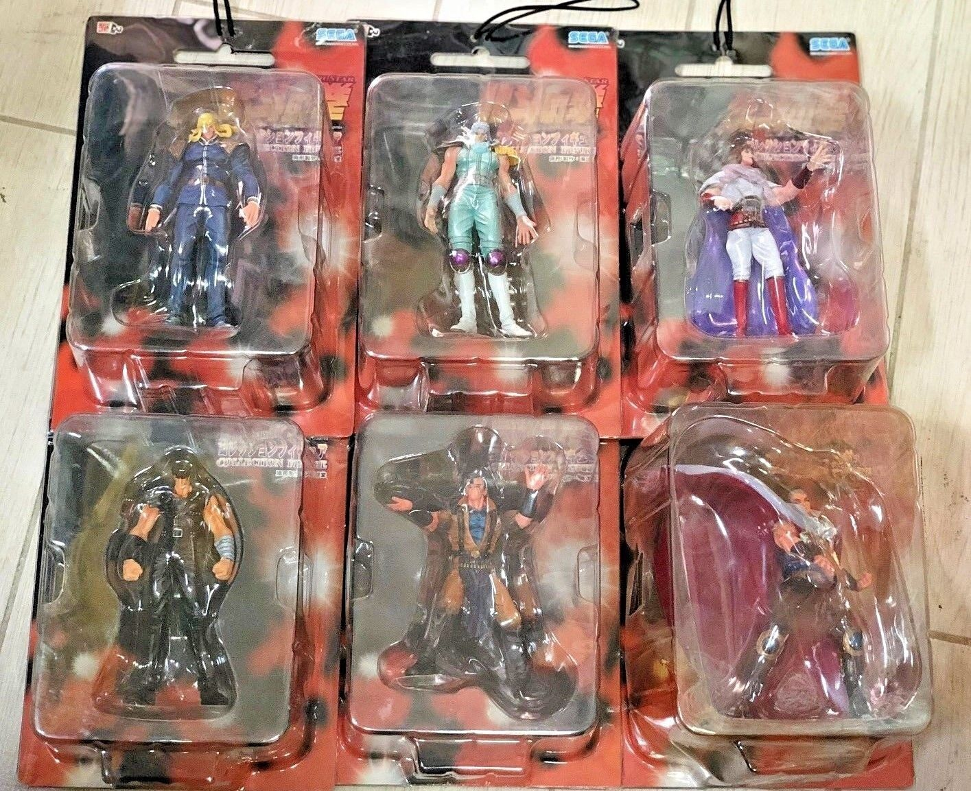 6 Action Figures Lotto Stock FIST NORTH STAR HOKUTO NANTO KEN IL GUERRIERO sega