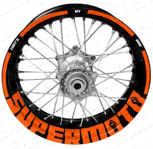 KTM, Husqvarna Supermoto TMR neonorange Motorrad Felgenaufkleber Aufkleber