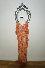 $695.00 New Badgley Mischka Caftan Arabian Maxi Dress Size Small
