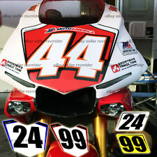 trackday or race numberplate set designed to fit 2015 2016 2017 yamaha R1