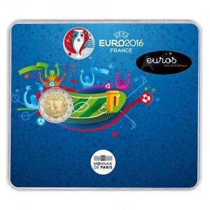 Piece-2-euros-commemorative-FRANCE-2016-Coupe-de-l-039-UEFA-Brillant-Universel