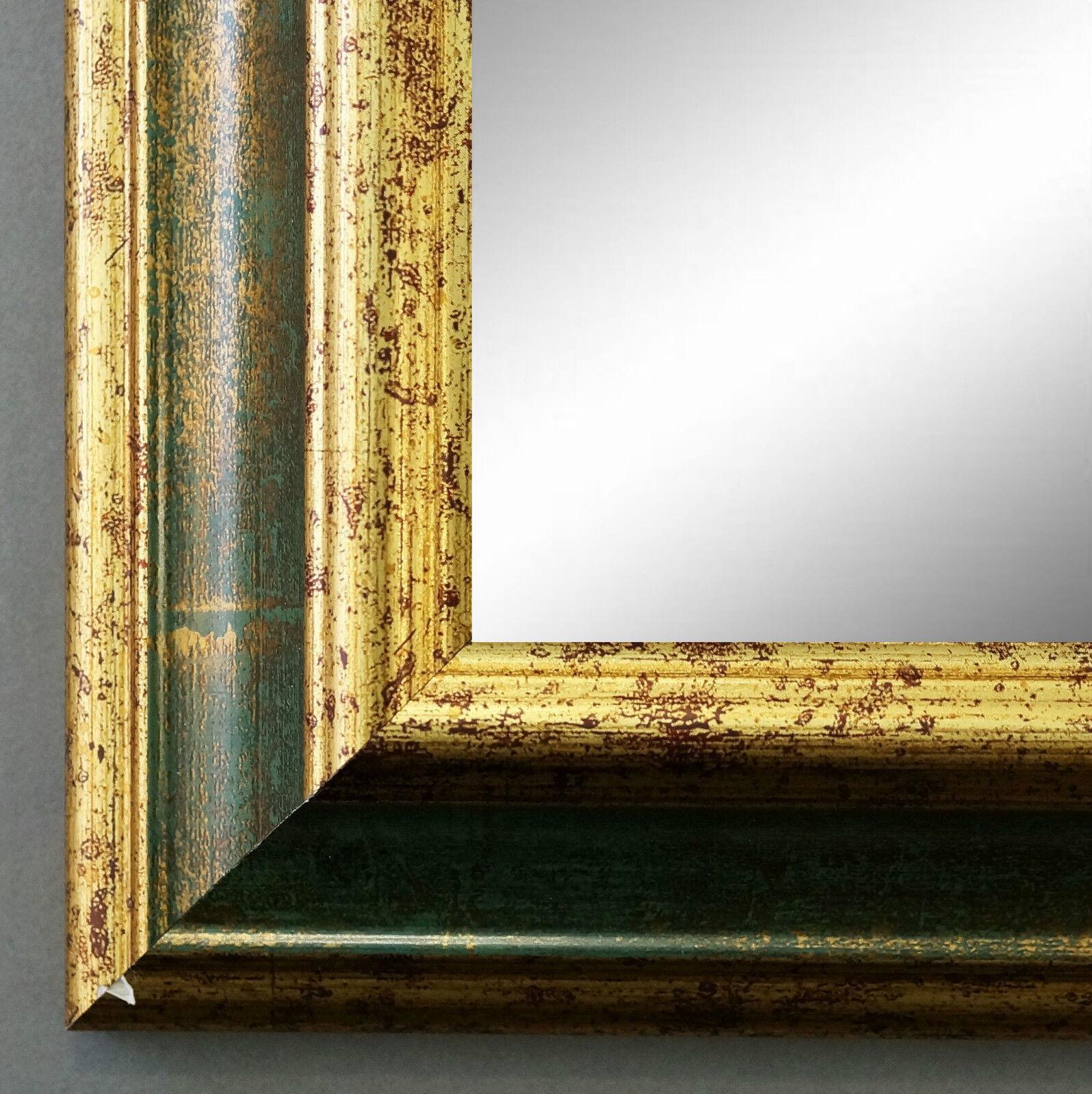Wandspiegel Hochformat Querformat Bari Antik Grün Gold 4,2 - NEU alle Größen