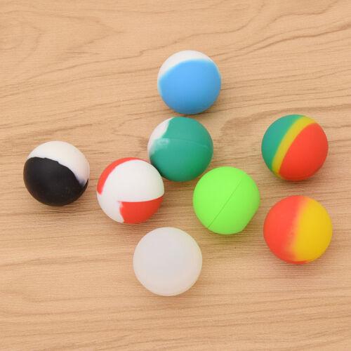 2 Pcs 5.6ml Silicone Containers Random Colors Non-Stick Oil Wax Box Case Jar