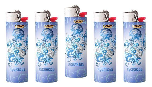 Bic Horoscope Aquarius Lighters 5pk New 2019-2020 Bic Horoscope Aquarius  Designs