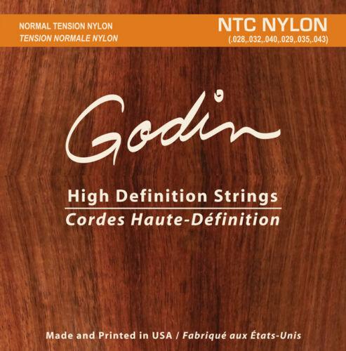 Godin Nylon Saiten für strings for Godin Multiac und klassische Gitarren NTC