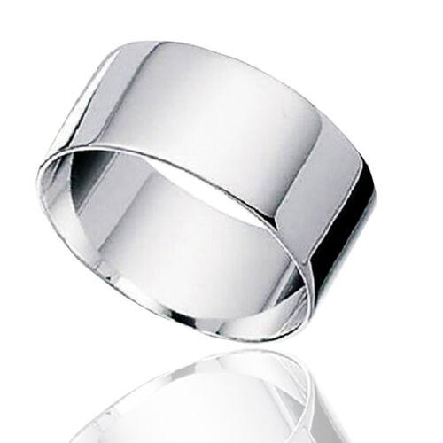 Anello pollice fascia inglese in argento massiccio titolo 925 rodiato