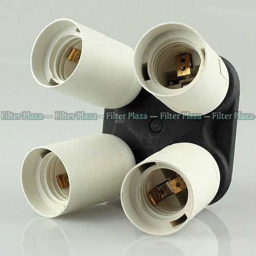 4 in 1 E27 Base Socket Splitter Light Lamp Bulb Adapter Holder for Photo Softbox