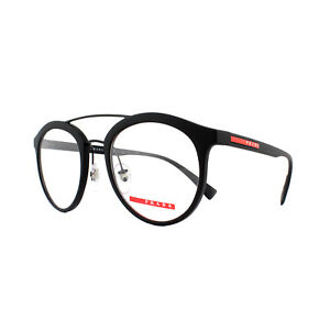 815dc9c9286 Prada Sport Glasses Frames PS 01HV DG01O1 Black Rubber 50mm Mens ...