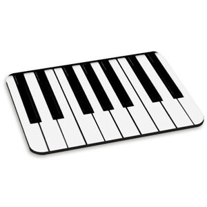Details about PIANO KEYS KEYBOARD PC COMPUTER MOUSE MAT PAD - Funny Music  Black and White