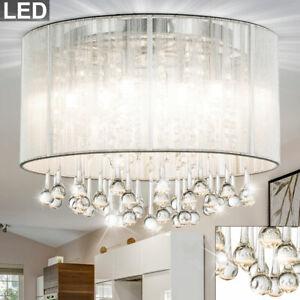 LED  Hänge Leuchte Ess Zimmer Decken Beleuchtung Luster Kristall Behang Lampe