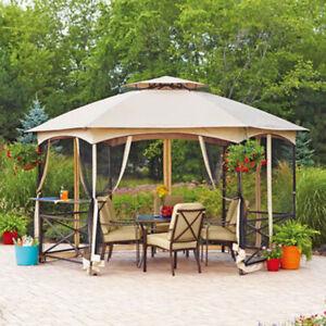 Garden Winds Vineyard Hexagon Gazebo Replacement Canopy Riplock 350