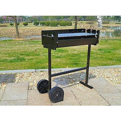 Trolley Charcoal BBQ Barbecue Grill Patio Outdoor Garden Heating Heat Smoker AYA