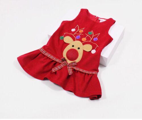 1.5-6 Años Nuevo Vestido De Pana Chicas Navidad