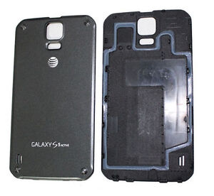 the latest e7b4a 662d4 Details about Samsung Galaxy S5 Active AT&T G870A Back Cover Battery Door  Black Replacement