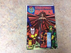 StrikeForce America #1 Seal Card Comico Comics Dec 1995