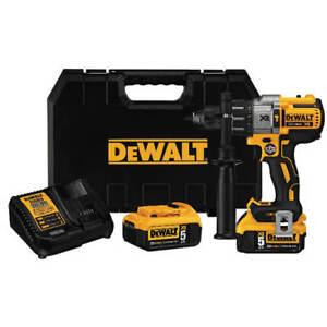 DEWALT-DCD996P2-MAX-20V-1-2in-Li-Ion-Brushless-Premium-3-Speed-Hammer-Drill-Kit