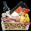 miniature 1 - Strenna di Natale GOLD BOX 1 - Cesto Natalizio Gastronomico salumi formaggi