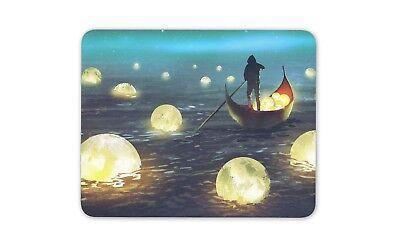 Canottaggio Barca Fantasy Tappetino Mouse Pad-brillante Moon Art Cool Regalo Computer #14059-