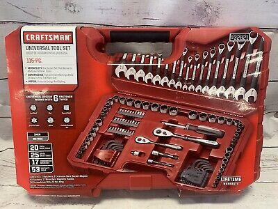 Brand New Craftsman 115-Pc Mechanics Tool Set Universal 6 Fastener Types 932821