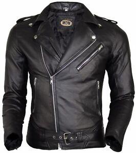 détaillant en ligne prix réduit grandes variétés Détails sur Homme Faux Cuir Veste Blouson Motard Clubjacke Moto Style Veste  de Créateur