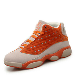 Mens-Sports-Super-Team-High-Ankle-Sneakers-Basketball-AJ-13-Player-Running-Shoes