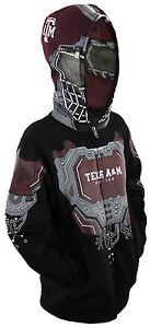NCAA College Youth Boys Texas A&M Aggies Full Zip Masked Sweatshirt Hoodie
