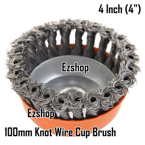 """6 x Heavy Duty 3/"""" inch 5//8/""""-11 Thread Knotted Type Twisted Wire Cup Brush"""