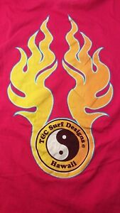d817ce2c Vintage Town and country Surf T Shirt 1980s Fuchsia Orange Flames ...